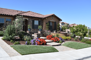 Image of a front yard - Curb appeal - Landscape design