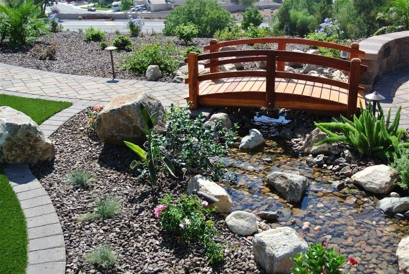 Water Feature bridge - Landscape design