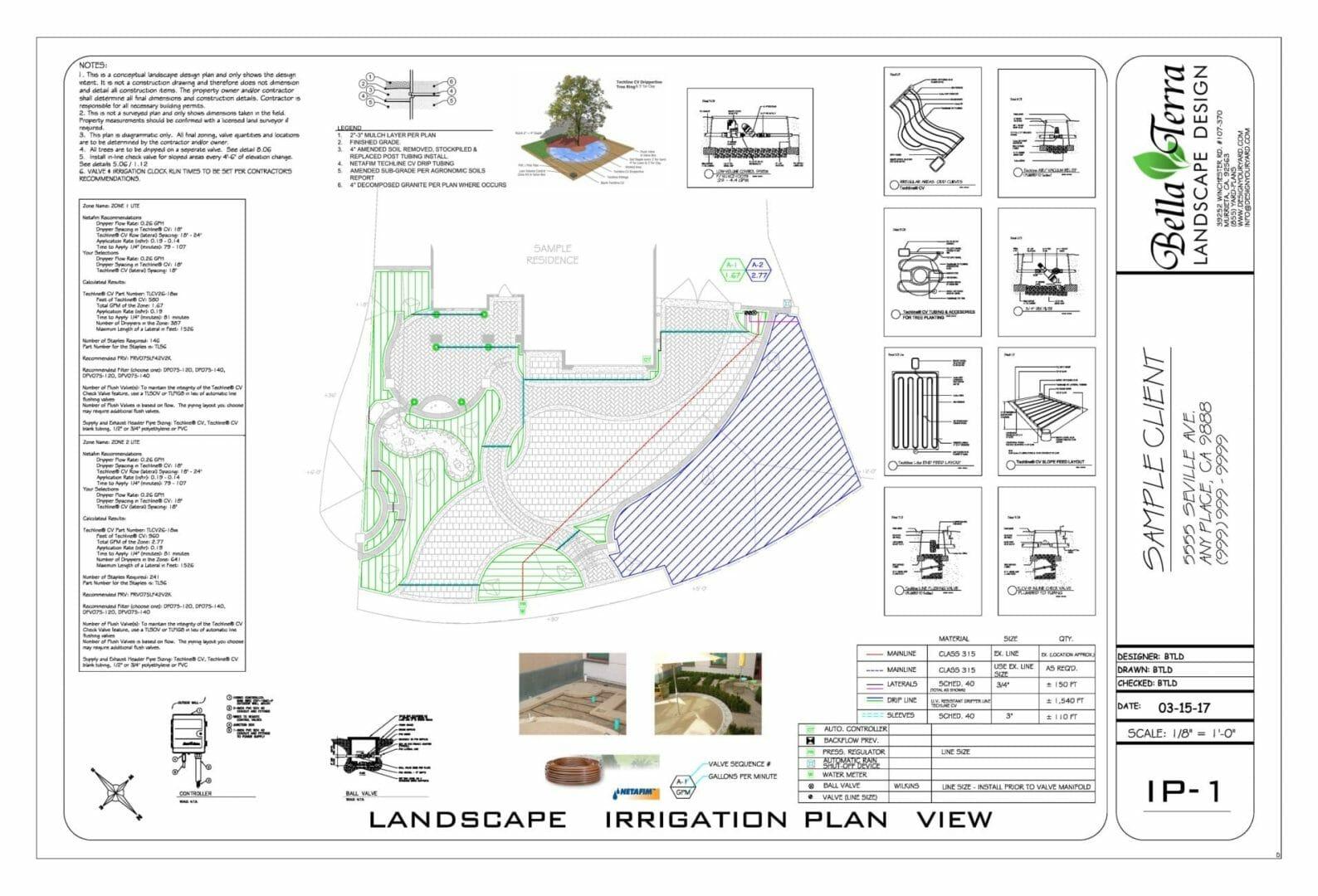 Sample Plans – Bella Terra Landscape Design