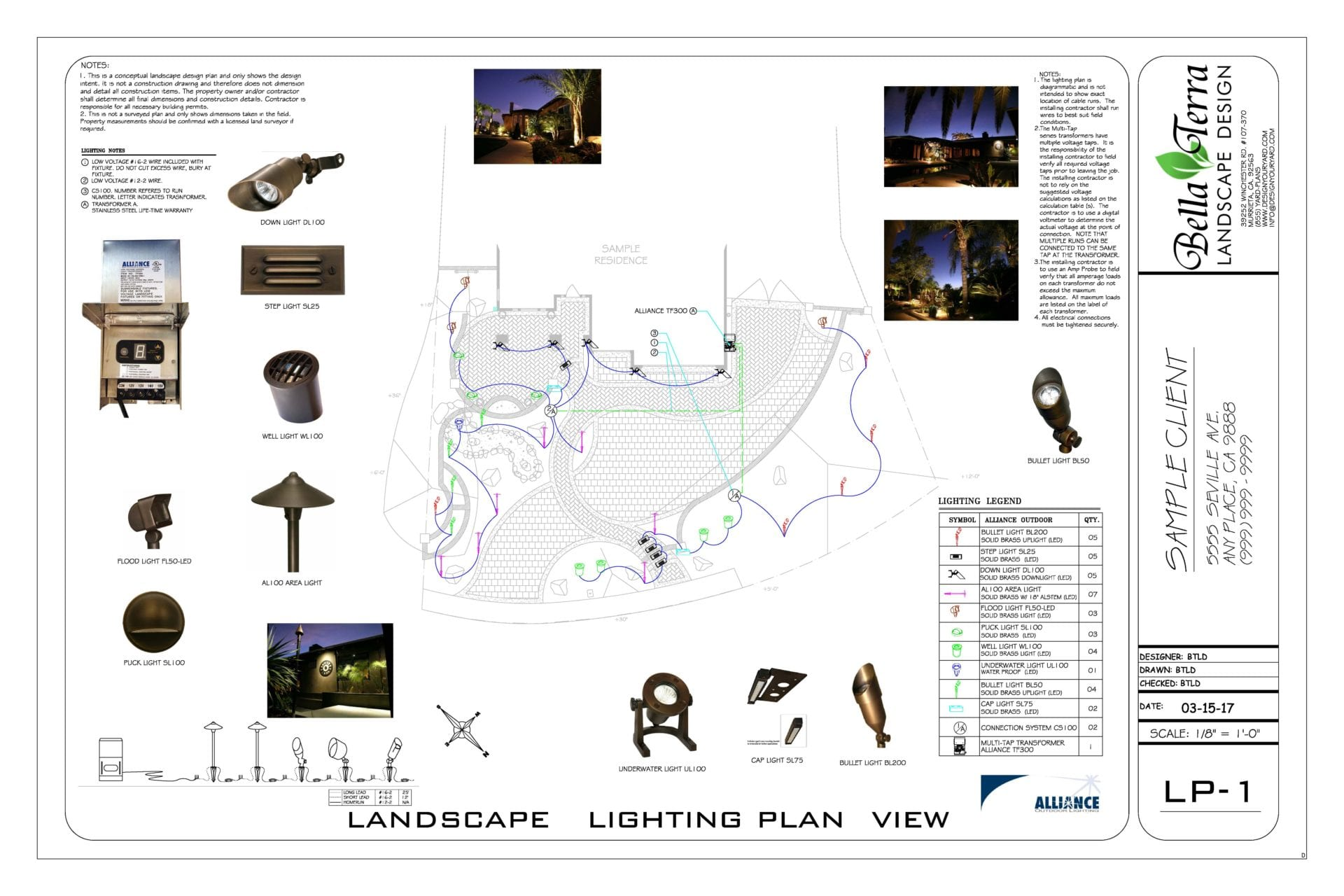 Sample Plans Bella Terra Landscape Design